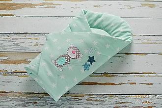 Textil - Zavinovačka hviezdy na mentole - 7917654_