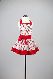Detské oblečenie - Retro white detská zástera - 7920494_