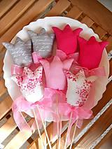 - Pink & Grey, tulipány, REZERVOVANÉ - 7917429_