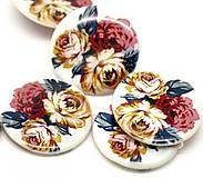 - Perleťová korálka 38mm ruža - 7919738_