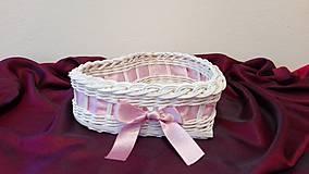 Košíky - Košík s ružovou mašličkou... - 7917845_
