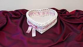 Košíky - Košík s ružovou mašličkou... - 7917846_