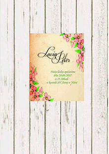 Papiernictvo - Svadobné oznámenie - 7919598_