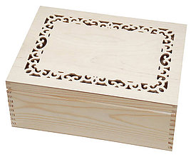 Polotovary - Veľká krabica s vyrezaným okrajom - 7919521_
