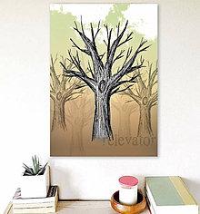 Grafika - Stromy a obloha (strom 2) - 7917514_