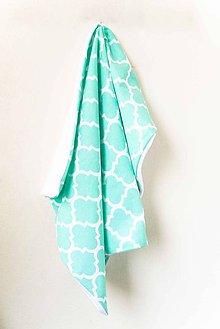 Textil - _BUVI...  Mentolová & biela... deka pre najmenších ♥ - 7925184_