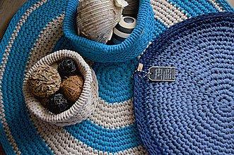 Úžitkový textil - Koberec tmavomodrý melange - 7923997_