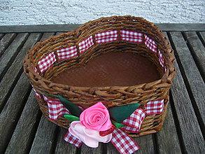 Košíky - Košíček srdiečko - 7921277_