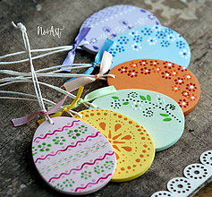 Dekorácie - Veľkonočné vajíčka Sada Flower Pastel - 7921710_