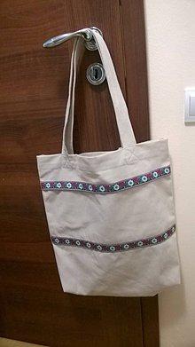 Nákupné tašky - Folkór- v bielom - 7924878_