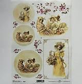 Papier - Ryžový papier na decoupage - A4 - R364 - dáma, vintage, kvety - 7924546_