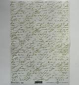 Papier - Ryžový papier na decoupage - A4 - R054 - písmo, vintage - 7924789_