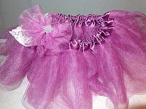 Detské oblečenie - tylová sukienka + čelenka - 7924953_