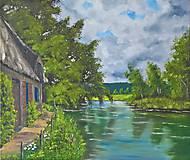 Obrazy - Dom pri rieke - 7921795_