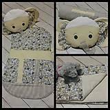 Textil - Vak na spanie SLONÍK s poduškou - 7925532_