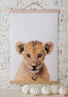 Grafika - Print na plátne Lion A2 farebná verzia - 7921719_