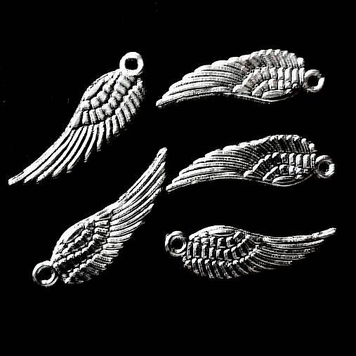 KPrívesok-krídlo 5x16,7mm-strieb-1ks