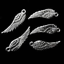 Komponenty - KPrívesok-krídlo 5x16,7mm-strieb-1ks - 7925238_