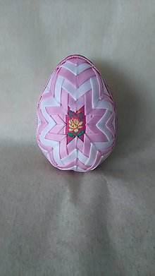 Dekorácie - Veľkonočné patchworkové vajíčko_14 - 7921426_