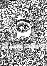 """Kresby - Omalovánka pro dospělé """"Naděje"""" - 7921811_"""