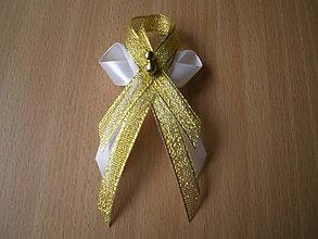 Pierka - bežovo-zlaté pierko - 7922553_
