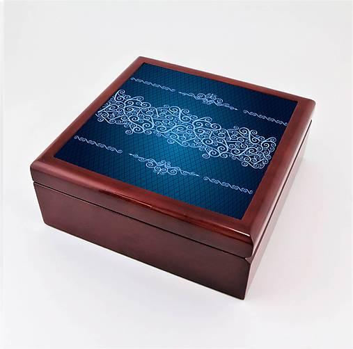 Krabička aj na šperky drevená vintage 1