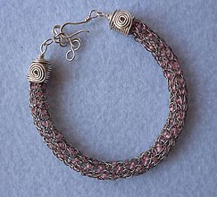 Náramky - Náramok s ružovým rokajlom - 7922408_
