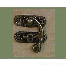 Komponenty - Zapínanie Elly bronzové - 7923880_