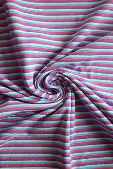 Textil - Bavlněný el. jednolíc – proužek barevný - 7922837_