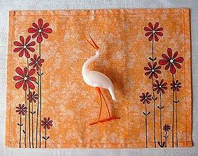 Úžitkový textil -  Maľované prestieranie pod tanier kvety I. - 7923043_