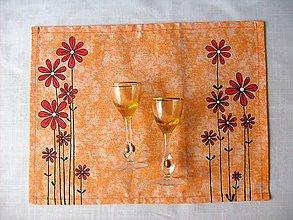 Úžitkový textil -  Maľované prestieranie pod tanier kvety II. - 7923080_