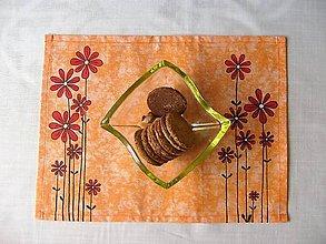 Úžitkový textil -  Maľované prestieranie pod tanier kvety III. - 7923100_