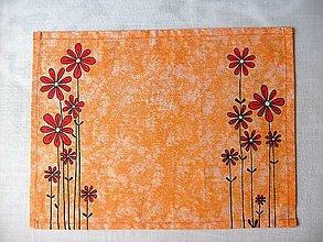 Úžitkový textil -  Maľované prestieranie pod tanier kvety IV. - 7923117_