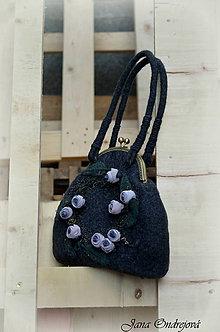 Kabelky - Plstená kabelka s mandalou °Nočná poézia° - 7921699_