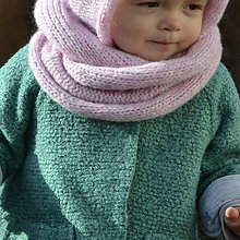 Detské doplnky - Mininákrčník...púdrový - 7925616_