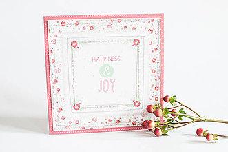 Papiernictvo - Pohľadnica Folk Floral