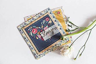 """Papiernictvo - Pohľadnica Folk Floral """"I Love You"""" - 7923135_"""