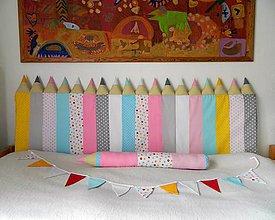 Úžitkový textil - Zástena Ceruzky 5 cm hrubá - 7922278_