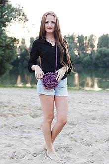 Kabelky - fialová kabelka - 7922361_