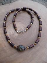 Náhrdelníky - pánsky náhrdelník s Tibetským Dzi Achátom - 7923702_