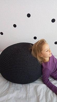 Úžitkový textil - Háčkovaný puf - podsedák PES - 7923144_