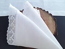 Úžitkový textil - Ľanový obrúsok Bride's Secret - 7924990_