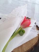 Úžitkový textil - Ľanový obrúsok Bride's Secret - 7924991_