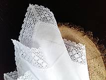 Úžitkový textil - Ľanový obrúsok Bride's Secret - 7924995_