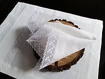 Úžitkový textil - Ľanový obrúsok Bride's Secret - 7924998_