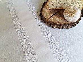 Úžitkový textil - Ľanový obrus Bride's Secret - 7925084_