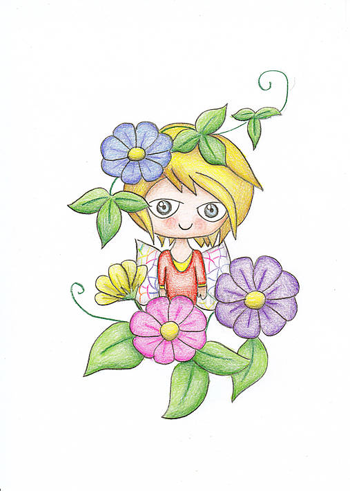 Farebná Alena - jarná víla
