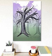 Grafika - Stromy a obloha (strom 5) - 7921333_