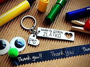 Kľúčenky - Ľúbim Ťa navždy ZLATKO - 7928701_