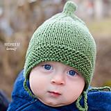 Detské čiapky - Prechodná elfská čiapočka ...